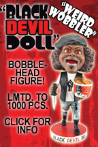 "BLACK DEVIL DOLL ""Weird Wobbler"" bobblehead"
